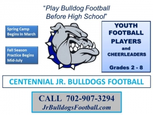 Centennial Jr Bulldogs Youth Football Team Looking for Players and Coaches