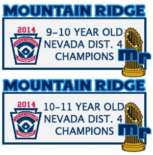 Mountain Ridge Little League Wins 2 Local Championships, Heads to State Tournament