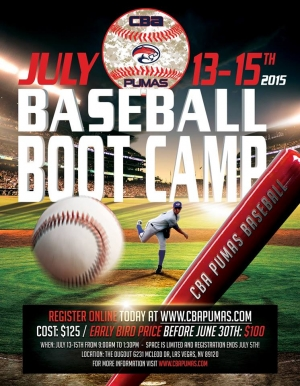 CBA Pumas July Baseball Bootcamp