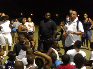 LVSF Presents Sports Safety Information to the NLV Raiders Youth Football Team