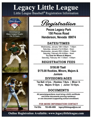 Legacy Little League Spring 2017