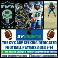 Green Valley Knights Youth Football Team Looking for Players for Fall 2015