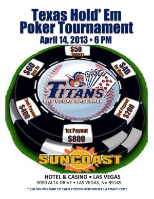 Titans Baseball Poker Tournament Fundraiser