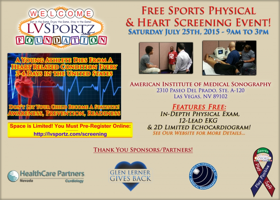 Lv Sportz Foundation Holding Game Saver Event Featuring Free Sports