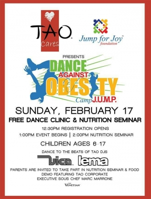 The Jump for Joy Foundation & Tao Cares Presents Dance Against Obesity