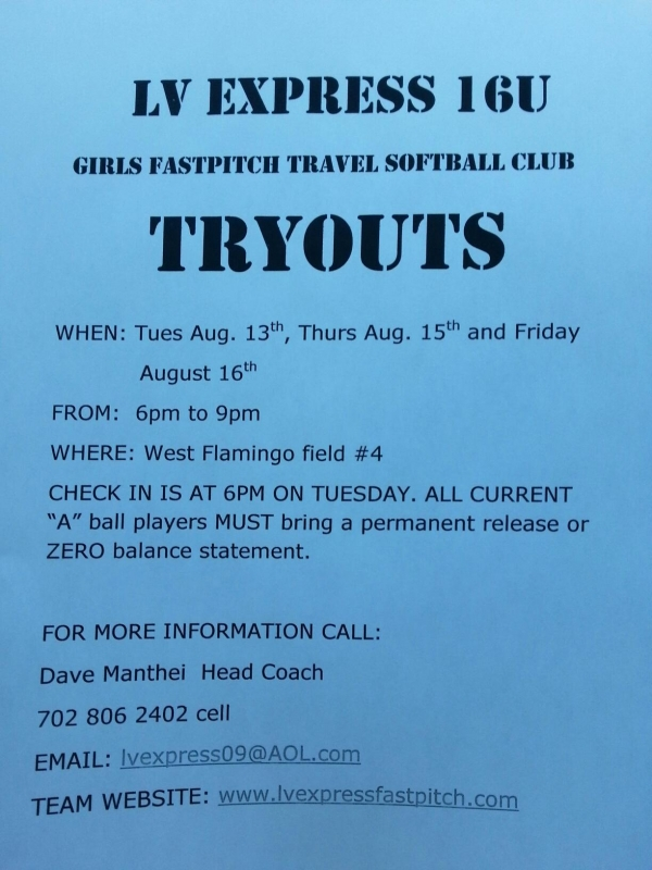 Fastpitch Softball Quotes | Lv Express 16u Girls Fastpitch Softball Tryouts Lv Sportz Foundation