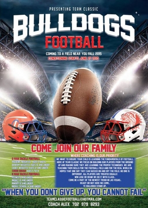 Team Classic Bulldogs Youth Football Looking for Players and Cheerleaders