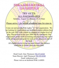 Pink Ladies 12A Fastpitch Softball Tryouts #2