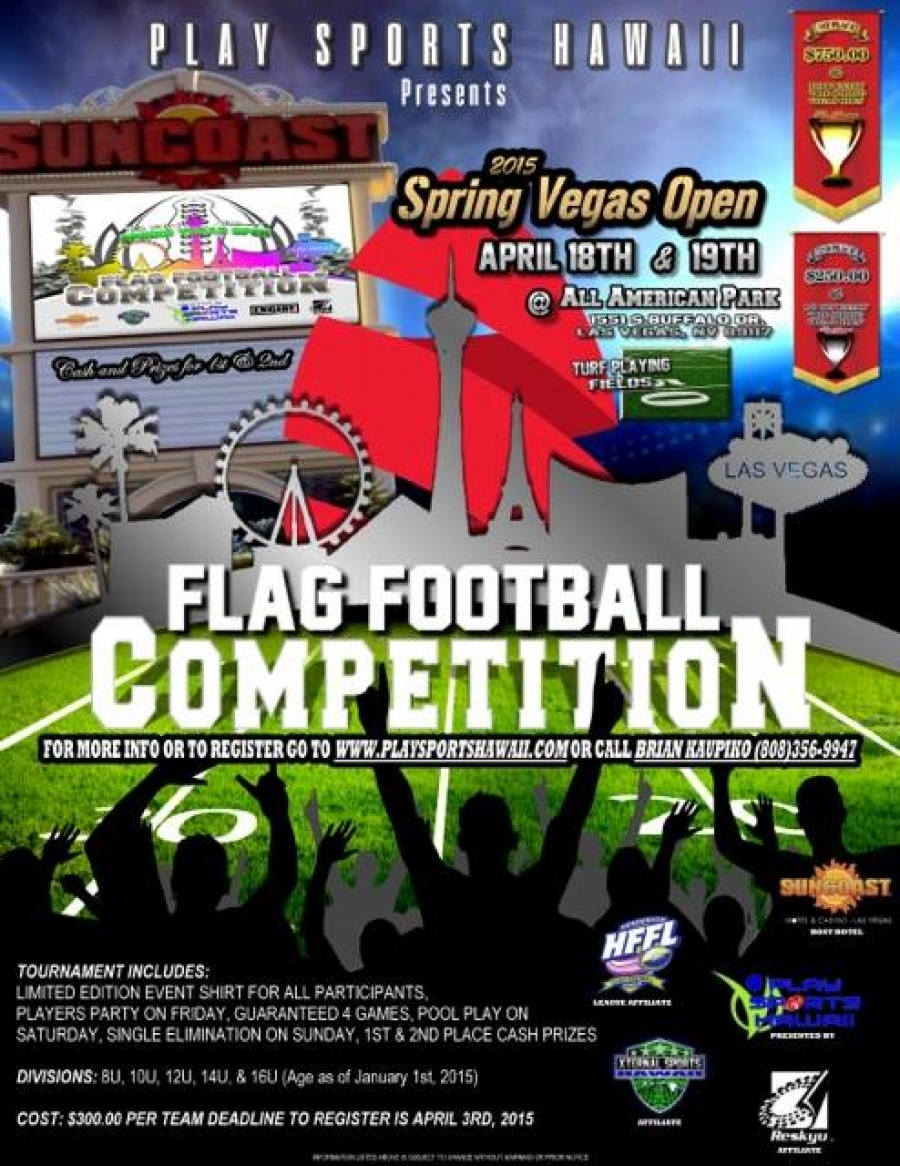 2015 National Spring Vegas Open Flag Football Tournament - LV Sportz ... af9b1c7d6