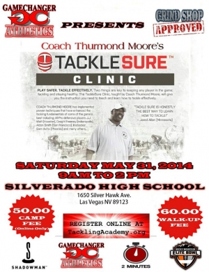 UPDATED: Coach Thurmond Moore's TackleSure Camp