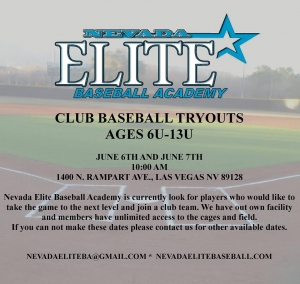 NV Elite Baseball Academy Tryouts