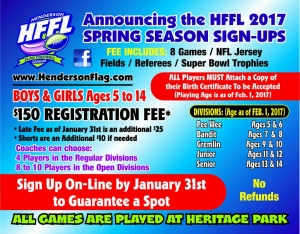 Henderson Flag Football 2017