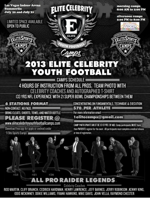 LVSF Partners with Exo-Armour for Elite Celebrity Football Camp