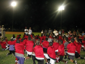 LVSF Presents Sports Safety Information to the Elite LV Wildcats Youth Football Team