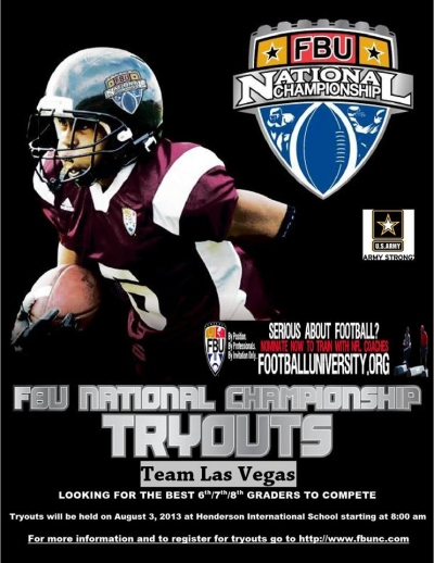 FBU Team Las Vegas Tryouts for 6th, 7th and 8th Graders