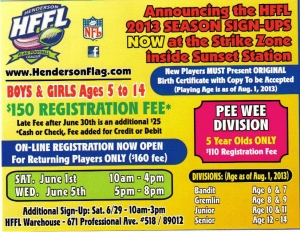 Henderson Flag Football Fall Season Registration