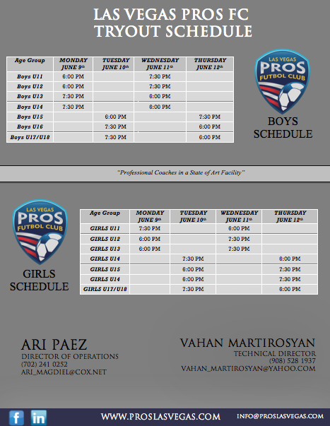 2014 lv pros futbol tryouts back