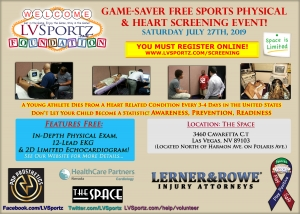 LV Sportz Foundation Free Summer 2019 Sports Physical with Screenings Event