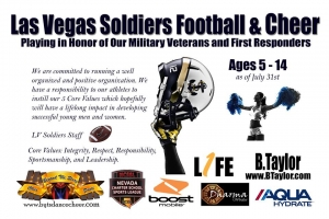 LV Soldiers New Youth Football Team Looking for Players Coaches and Cheerleaders