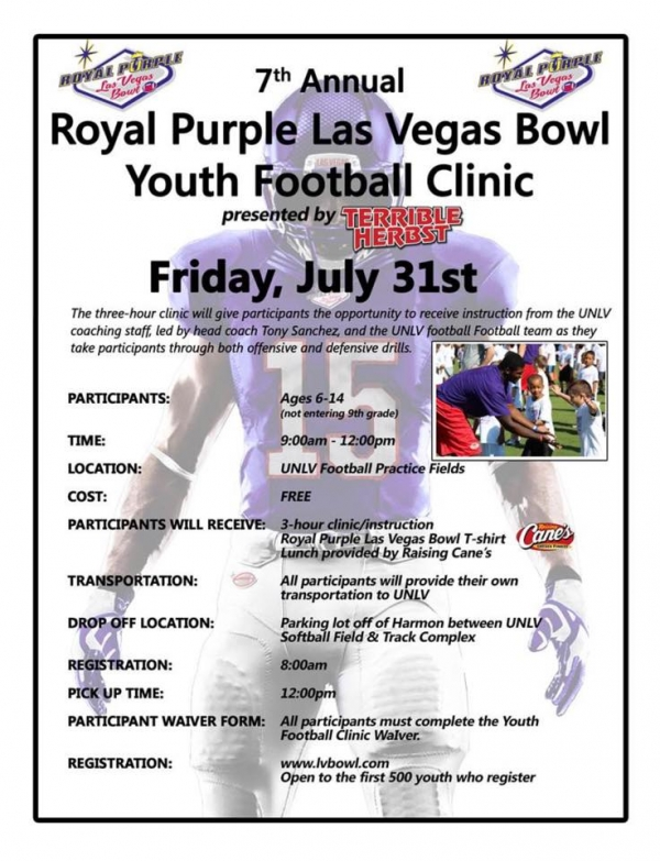 2015 Royal Purple Las Vegas Bowl Youth Football Clinic presented by Terrible Herbst