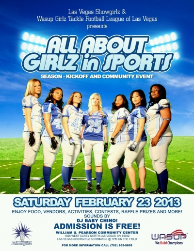 LV Showgirlz & WASUP Girlz Tackle Football Celebrating 'All About Girls in Sports' – Season-Kickoff and Community Event