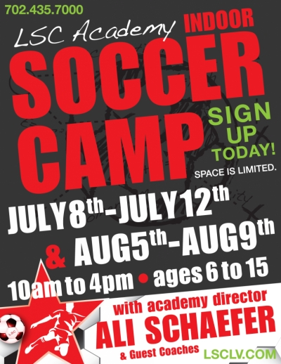 Longevity Sports Center Summer Indoor Youth Soccer Camps