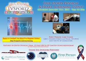 LVSF to Hold Free Sports Physical & Heart Screening Event January 31st