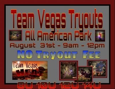 Team Vegas Heat Youth Football Tryouts Being Held Sunday August 31st