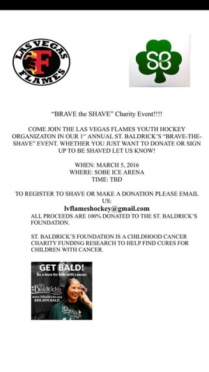 "LV Flames Youth Hockey 'BRAVE the SHAVE"" Charity Event"