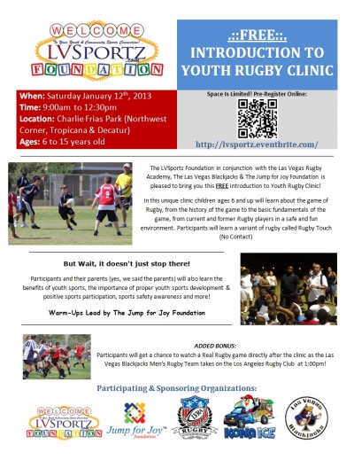 FREE Introduction to Youth Rugby Clinic