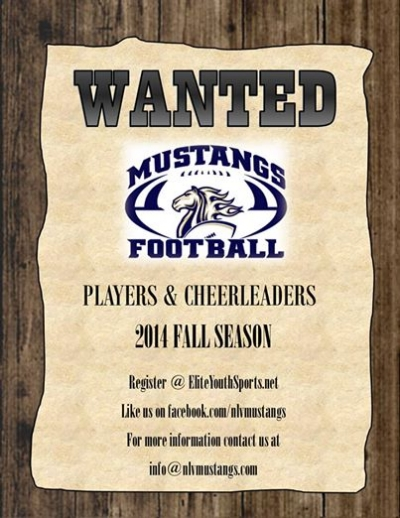 North Las Vegas Mustangs Youth Football Team Looking for Players