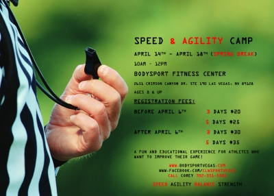 CLW Sport Performance Speed & Agility Camp