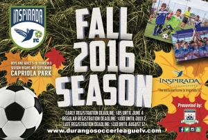 Inspirada FC Now Registering for the Fall 2016 Season
