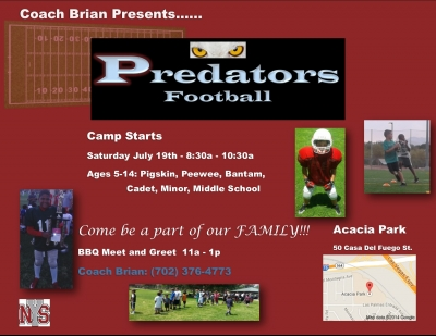 Henderson Predators Youth Football Team Looking for Players
