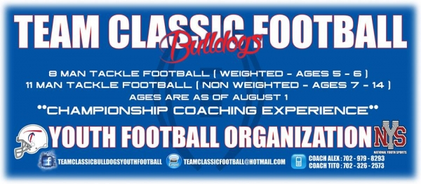 Team Classic Bulldogs Youth Football Team Looking for Players