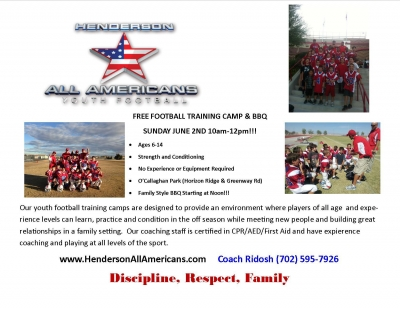 Henderson All-Americans Youth Football Camp & BBQ