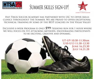 Summer Soccer Skills Sign Up at Longevity Sports Center Las Vegas