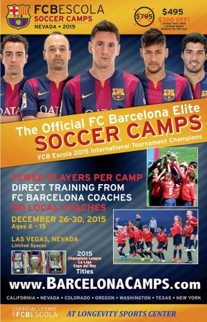 FC Barcelona Elite Winter Youth Soccer Camp at The Longevity Sports Center