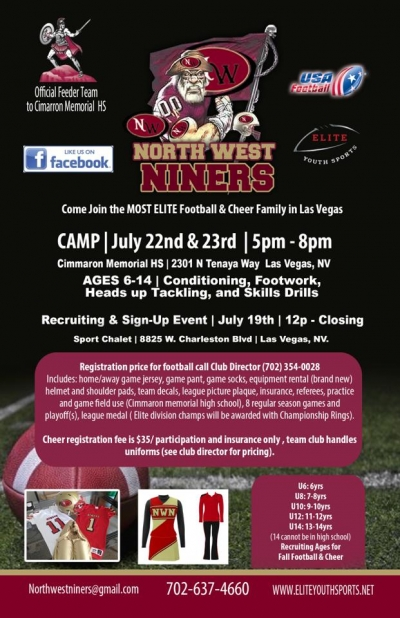 Northwest Niners Pre-Season Football Camp