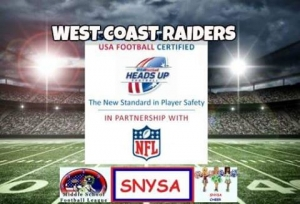 West Coast Raiders Youth Football Looking for Players