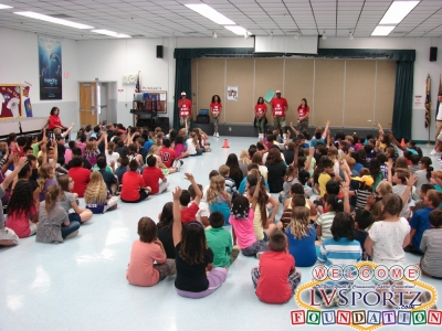 LVSF Visits Doris Fench ES with Fitness is Fun Assembly