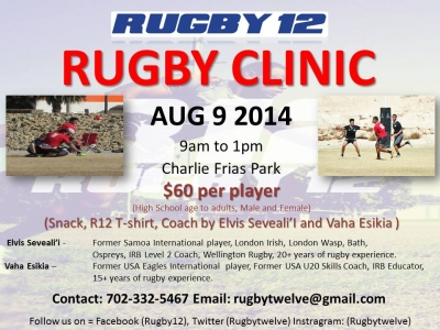 Rugby 12 Rugby Clinic