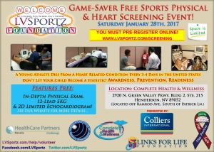 Local Brokerage Firm Helps LV Sportz Foundation to Hold Next Game-Saver Free Sports Physical & Youth Athlete Heart Screening Event