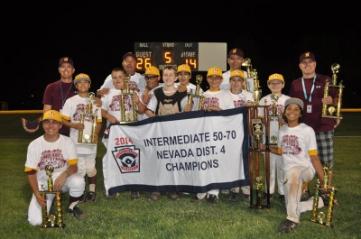 Summerlin North Little League 50/70 All Star Team to Play for State Title in Carson City