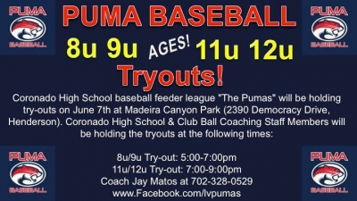 Puma Baseball Tryouts